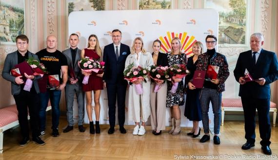 Wręczenie nagród sportowych za wysokie wyniki uzyskane w 2020 r., fot. Sylwia Krassowska
