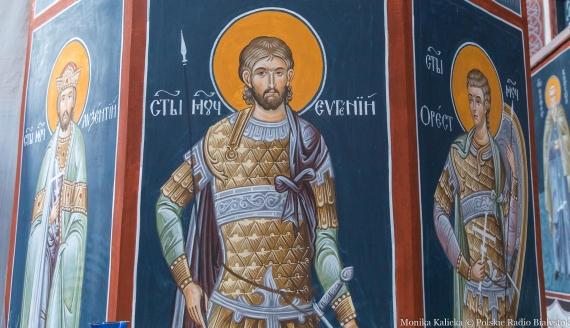 Rekonstrukcja fresków w cerkwi Zwiastowania NMP w Supraślu, fot. Monika Kalicka