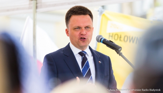 Szymon Hołownia w Białymstoku, fot. Sylwia Krassowska