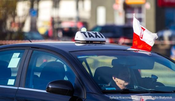 Protest taksówkarzy w Białymstoku, fot. Sylwia Krassowska