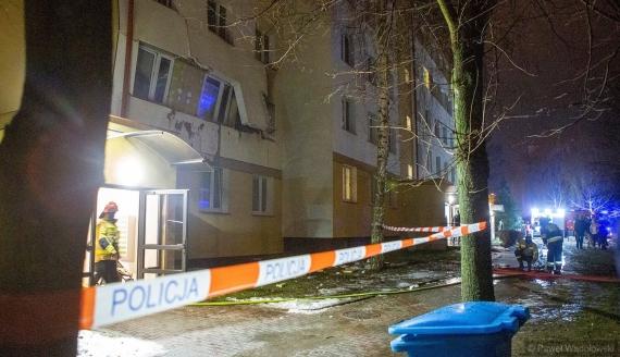 Wybuch gazu w Łomży, fot. Paweł Wądołowski