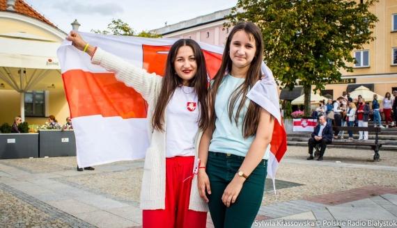 Białystok solidarny z białoruskim teatrem, fot. Sylwia Krassowska