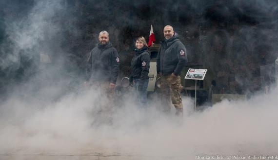 """Projekt """"Misja historia"""", Artur Jankowski, Joanna Hernik i Wojciech Hernik, fot. Monika Kalicka"""