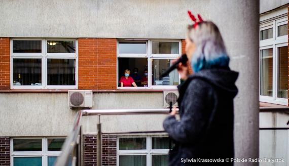 Koncert dla pacjentów i pracowników szpitala MSWiA w Białymstoku, fot. Sylwia Krassowska