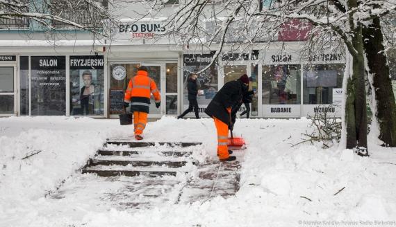 Zaśnieżony Białystok, 26.01.2021 r., fot. Monika Kalicka