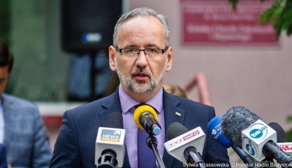 Minister zdrowia Adam Niedzielski w USK w Białymstoku, fot. Sylwia Krassowska