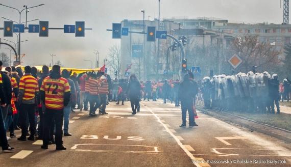 Kibice Jagiellonii Białystok zorganizowali Święto ULTRY, fot. Sylwia Krassowska