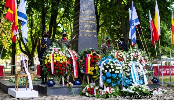 W Białymstoku uczczono 77. rocznicę wybuchu powstania w getcie, fot. Sylwia Krassowska