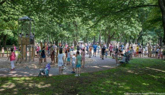 Wodny plac zabaw dla dzieci w Parku Konstytucji 3 Maja, fot. Monika Kalicka