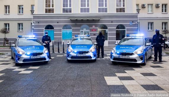 Nowe radiowozy podlaskiej policji, fot. Joanna Szubzda