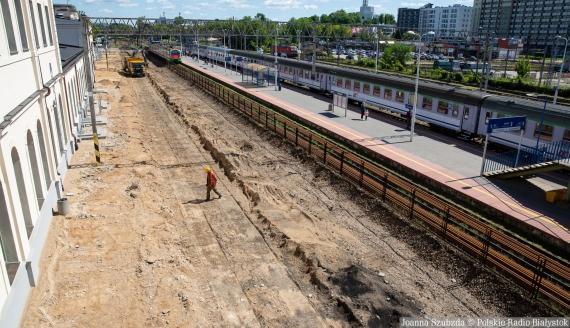 Dworzec kolejowy w Białymstoku, 24.05.2021, fot. Joanna Szubzda