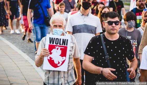 Marsz Solidarności z Białorusią w Białymstoku, fot. Joanna Szubzda