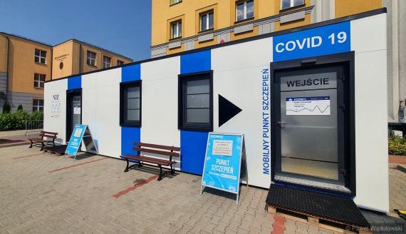 Mobilny Punkt Szczepień w Kolnie, fot. Paweł Wądołowski