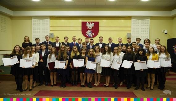 Stypendia dla 51 najlepszych uczniów z regionu, fot. Mateusz Duchnowski/UMWP