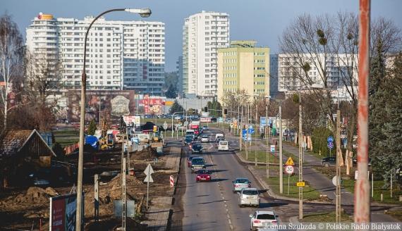Aleja Tysiąclecia Państwa Polskiego w Białymstoku, 1.12.2020, fot. Joanna Szubzda
