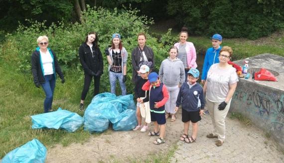 Akcja sprzątania rzeki Biała w Białymstoku, fot. Edyta Wołosik