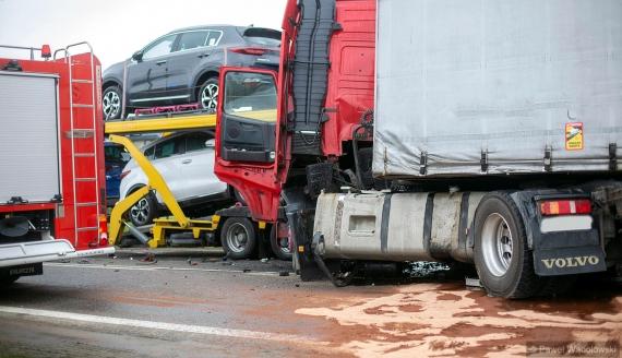 Wypadek w Kisielnicy, 5.05.2021, fot. Paweł Wądołowski