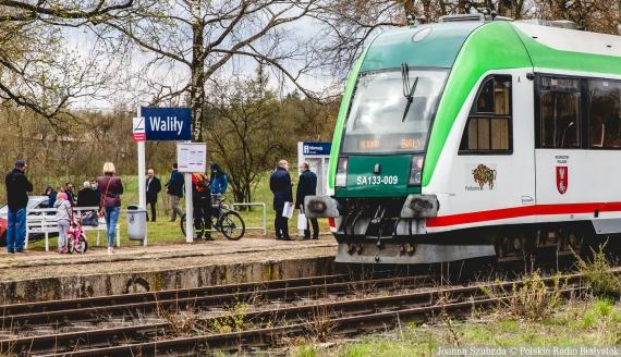 Pociąg z Białegostoku do Walił, fot. Joanna Szubzda