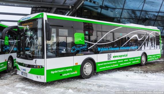 Prezentacja autobusów PKS Nova przeznaczonych na trasę Białystok - Supraśl, fot. Joanna Szubzda