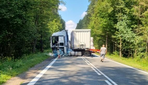 DK8, wypadek w okolicach Rybnik, źródło: Kolizyjne Podlasie