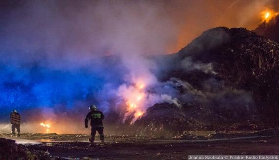 Pożar w sortowni odpadów w Studziankach, 5.06.2019, fot. Joanna Szuzbda