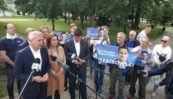 Małgorzata Kidawa Błońska w Suwałkach, fot. Jakub Mikołajczuk