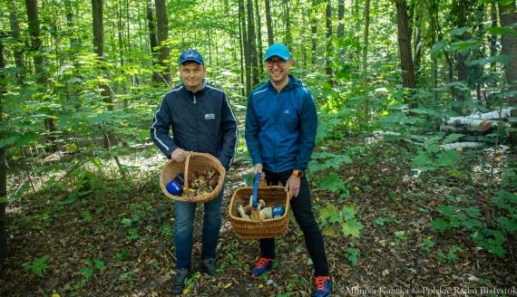 Kamil Kalicki i Andrzej Ryczkowski na grzybach, fot. Monika Kalicka
