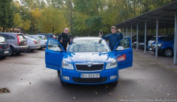 Czy każda nawigacja prowadzi tak samo - sprawdzają Kamil Kalicki i Andrzej Ryczkowski, fot. Monika Kalicka
