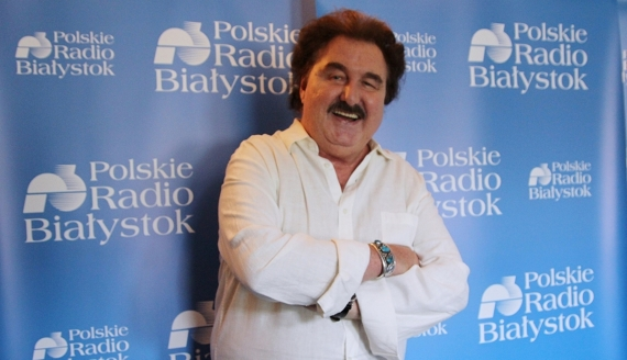 Krzysztof Krawczyk w Polskim Radiu Białystok, fot. Marcin Gliński