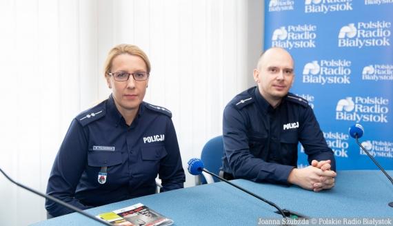 asp. Marlena Połowianiuk i mł. asp. Kajetan Biłoszewski, fot. Joanna Szubzda