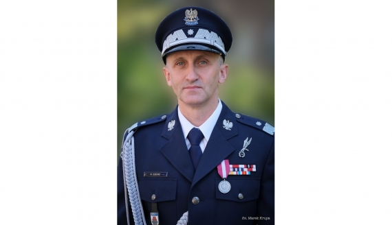 nadinspektor Robert Szewc, fot. Marek Krupa/ podlaska.policja.gov.pl