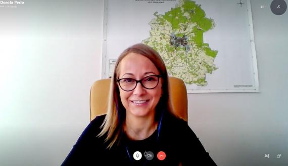 Danuta Perło, źródło: Skype/screen