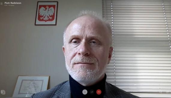prof. Piotr Radziwnon, źródło: Skype/screen