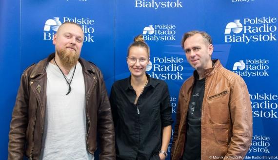 """Paweł """"Szucher"""" Szuszkiewicz, Katarzyna Antosiewicz i Piotr Romaniuk, fot. Monika Kalicka"""