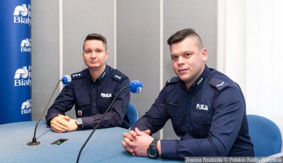 kom. Kamil Sorko i sierż. Piotr Gałażyn fot. Joanna Szubzda