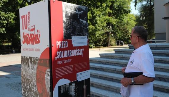 """Wystawa """"Tu rodziła się Solidarność"""" - fot. Robert Bońkowski"""